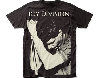 Joy Division Ian Curtis Soft 30/1 Men's Cotton Subway Tee (SUBJD02) Black