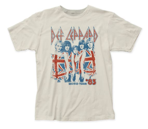 Mens Def Leppard 83 World Tour T-shirt - S to 2XL