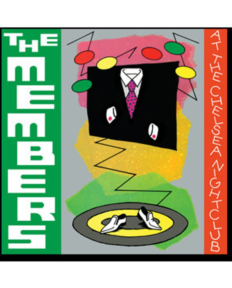 The Members - At The Chelsea Nightclub - Vinyl Record (150 Gram Opaque  Green or 200 Gram Black)