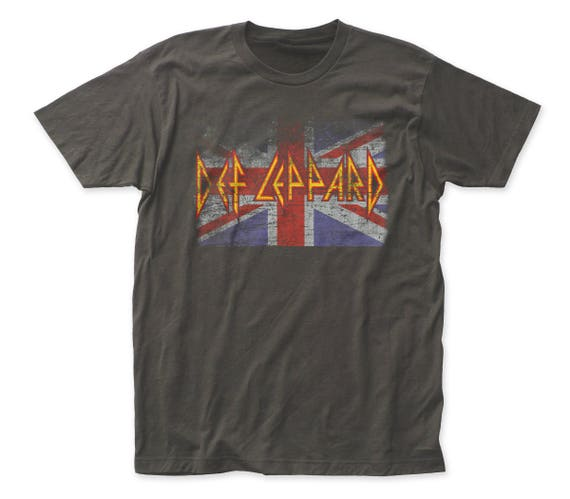 Def Leppard Union Jack T-shirt for Men - S to 2XL