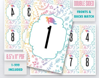 Turtle Live Number Cards(1-999) Normal + Mirrored Numbers Included | Live Sale Numbers, Number Tags, Facebook live numbers