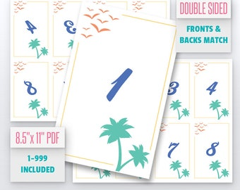 Summertime Live Number Cards(1-999) Normal + Mirrored Numbers Included | Live Sale Numbers, Number Tags, Facebook live numbers