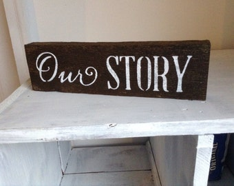Customizable mantle block sign   rustic farmhouse decor   wedding gift   holiday gift