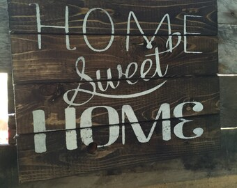 Home Sweet Home   reclaimed wood sign   rustic home decor