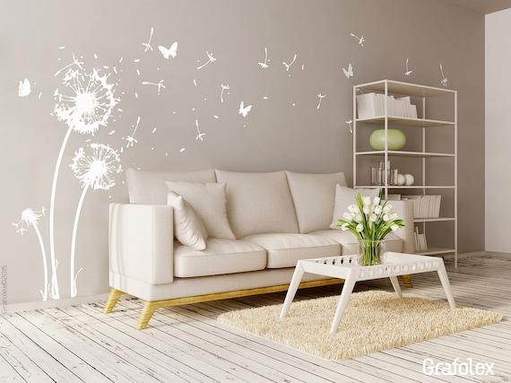Muur sticker bloem vlucht zaden vlinders etsy