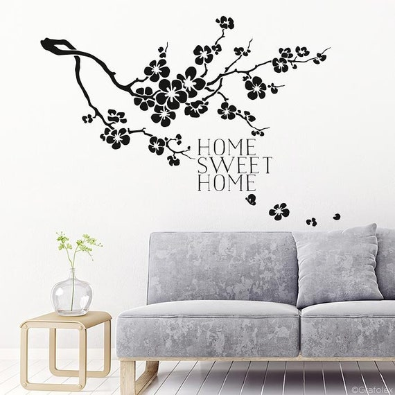 Muursticker Home Sweet Home.Muur Stickers Home Sweet Home Muur Sticker Muur Sticker Etsy