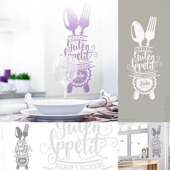 Guten Appetit Wandtattoo für Küche Esszimmer Cafe Wandaufkleber Wandsticker  Wandbild Wand Deko Sticker Aufkleber w503a