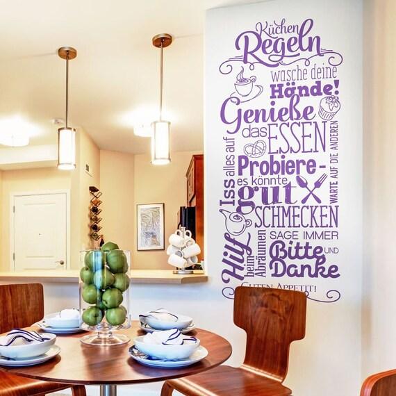 Wandtattoo Küchenregeln Küchen Regeln Esszimmer Guten Appetit | Etsy