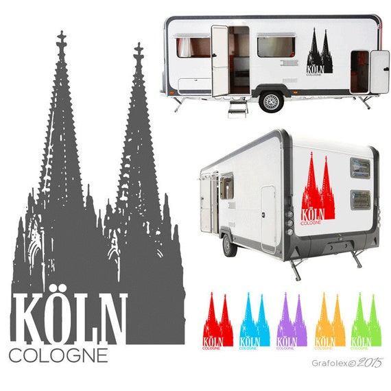 Köln Dom Aufkleber Tattoo Sticker Wohnmobil Kfz Lkw Pkw A107
