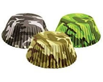 Camouflage Cupcake Liner - Set of 75