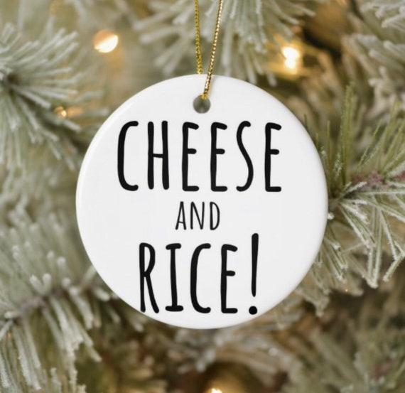 Christmas Tree Decoration Cheesy Gift Cheesy Gift Decoration Mini Cheese Decoration Gag Gift Cheese Lover Cheese Humour