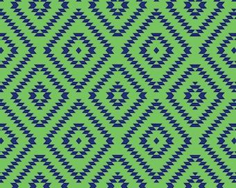 Native Diamonds Fleece fabric by David Textiles by the yard