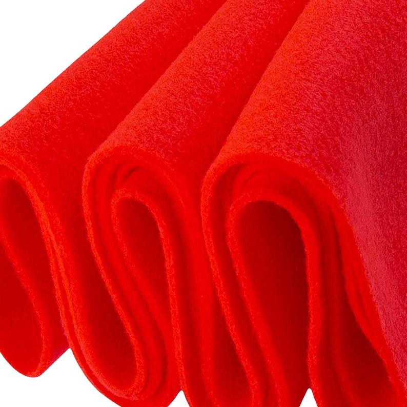 FabricLA Sewing Arts Hot Orange A23 1 Yard Long and DIY Acrylic Felt Fabric 72 Inch Wide 1.6mm Thick Cushion Padding