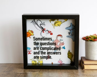 Shadowbox Art: Dr. Suess quote