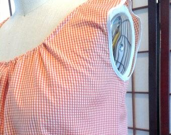Orange Gingham Shirt - XS/S