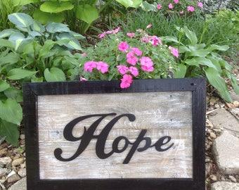 HOPE Sign   Handmade Pallet Wood Frame