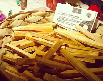 10 Sticks 2 oz Palo Santo Fresh Holy Wood Incense (4+ Inches Long) Meditation, Yoga, Healing, Reiki, Massage, Tantra, Cleansing energy. New