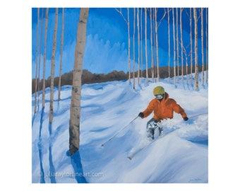 Mountain Painting Winter, Breckenridge Ski Art, Original Ski Painting, Vail CO Painting, Original Mountain Painting, Large Mountain Wall Art