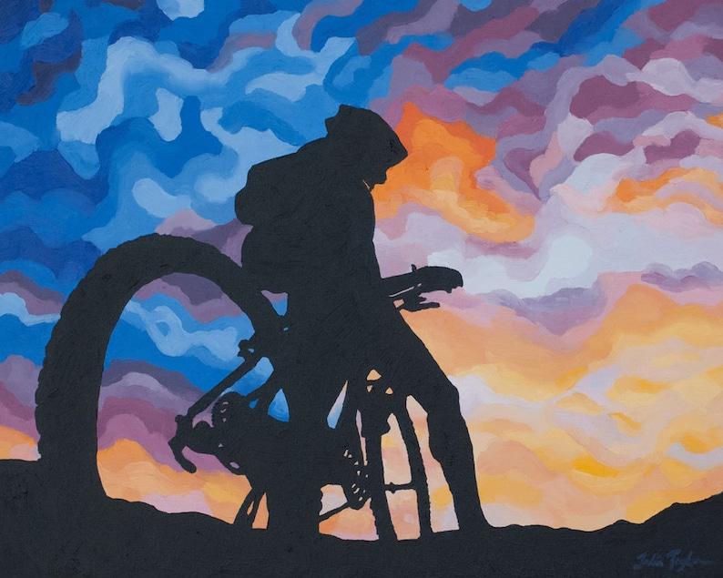 Mountain Bike Art Print  Colorado Biking Art Print  image 0