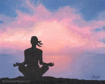 Gift for Yogi, Yoga Studio Decor, Yoga Teacher Gift, Unique Yoga Gift, Yoga Lover Gift, Yoga Wall Art, Yoga Art Print, Meditation Art