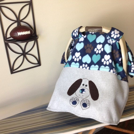 Easy Car Seat Canopy Pattern Puppy Dog Theme Fleece Baby Etsy