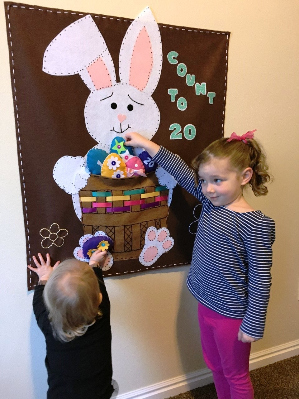Easter Craft Bunny Felt Activity PATTERN Felt Wall Hanging