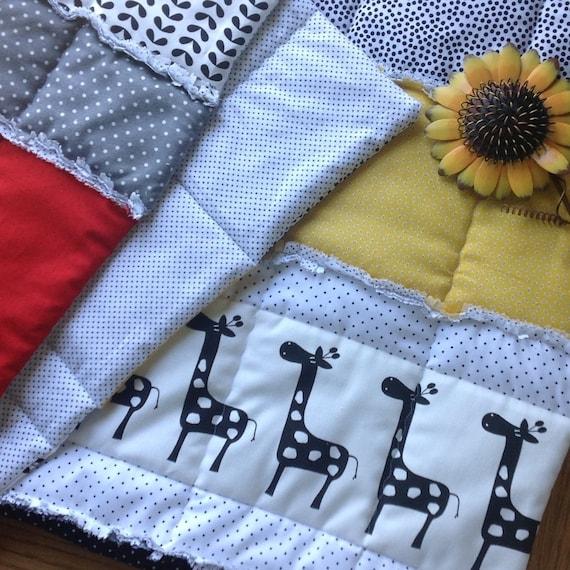 Baby Quilt Pattern Crib Size Quilt Rag Quilt Tutorial Etsy