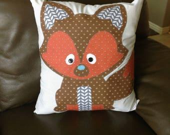 Woodland Animal Pillow - FOX - Pillow Toy - Woodland Nursery