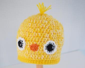 Crochet baby hat, little Chick hat, Newborn photo prop, newborn/baby hat, baby boy, baby girl, newborn prop, Bird hat