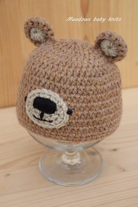 Bear Hat Crochet Pattern | Teddy Bear Hat | 855x570
