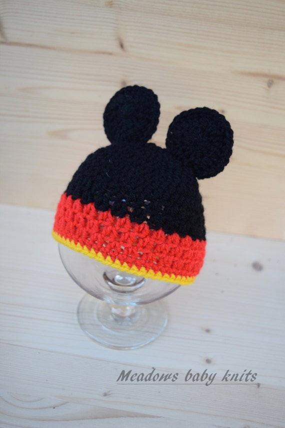 Crochet baby hat Minnie Mouse hat Mickey Mouse hat Baby  2d4a6ce3c62