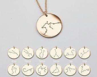 Zodiac Necklace Etsy