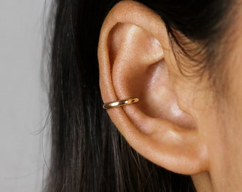 Simple Thin Band Ear Cuff, No Piercing is Needed, Gold, Silver SHEMISLI SF001