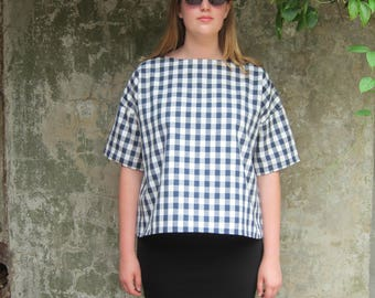The Check Top - Japanese Style with Sleeves