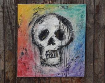 Skull Oil Painting -color
