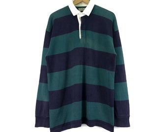 1db337f1b Vintage L.L Bean Shirts Long Sleeve Striped Block Color Streetwear Rugby  Clothing Made In Usa Chest 23
