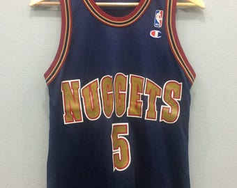 39f7fa4a53a Vintage Champion Tanks Jalen Rose Nuggets NBA Jersey Size 36 Activewear  Clothing Unisex Adult