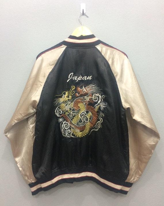 Vintage Sukajan Souvenir Jacket Dragon Roar Japane