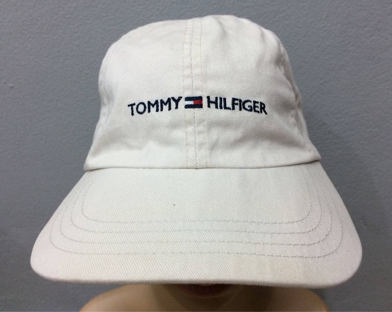 80e9a39e Vintage Tommy Hilfiger Cap Embroidered Spell Out Small Logo | Etsy