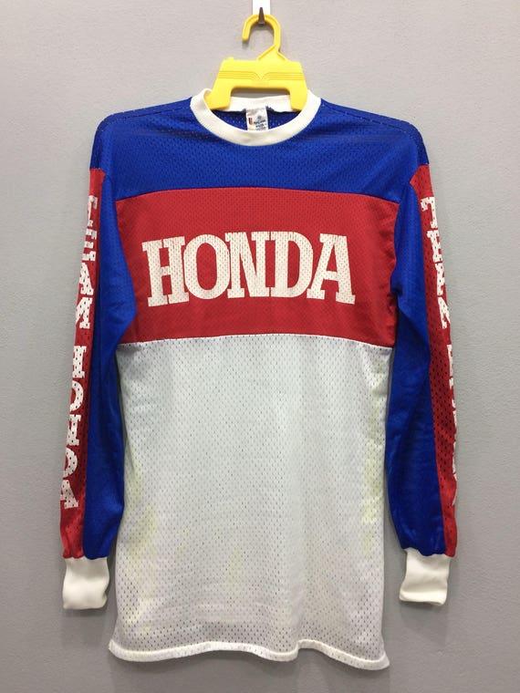 70s Malcolm Smith Racing Team Honda Jersey Long Sleeve Block | Etsy