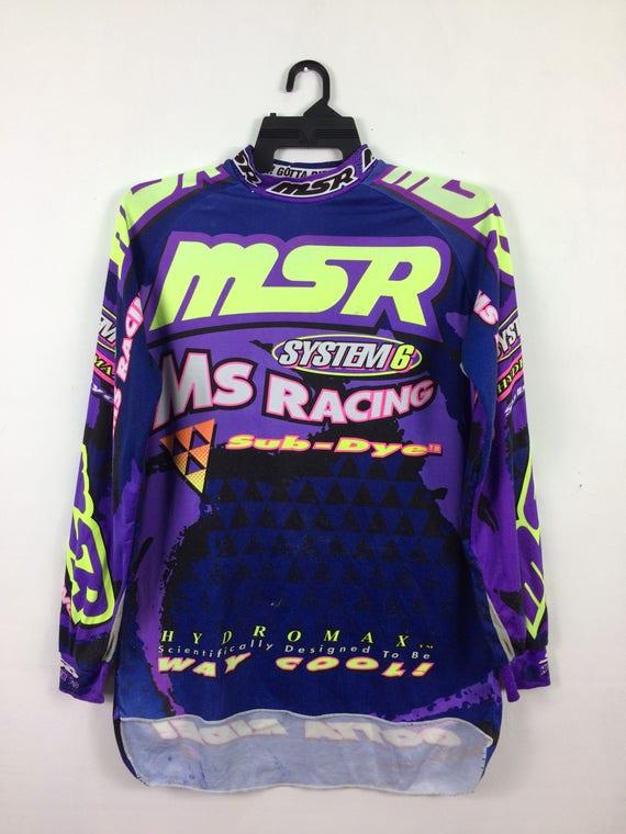 Vintage Malcolm Smith Racing Jersey Long Sleeve Multicolor | Etsy