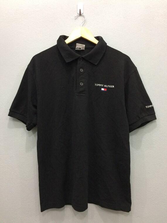 889e642e6123 Vintage Tommy Hilfiger Shirt Three Buttons Black Color Medium