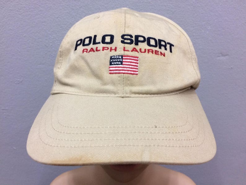 b04884b107a Vintage Polo Sport Cap By Ralph Lauren Spell Out Adjustable