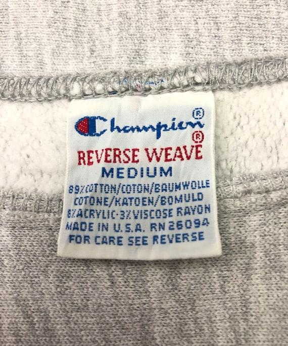 Armure inverse CHAMPION Vintage X Boston sort College sort Boston à gros Logo couleur gris argent Streetwear vêtements taille moyenne poitrine 20