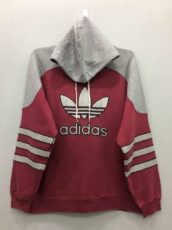 Vintage ADIDAS Trefoil Zipp Sweater Hoodie