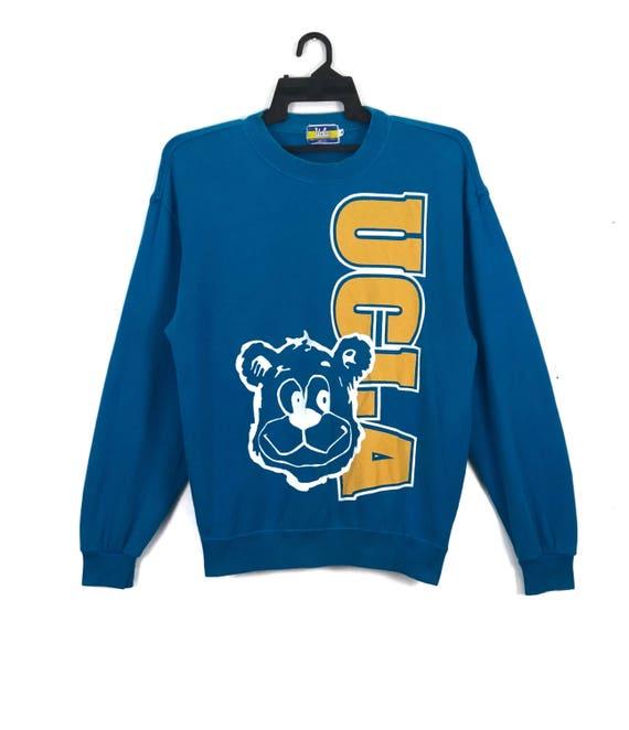 Vintage UCLA Bruins Sweatshirt Jumper Spell Out Big Logo Blue  e15eea507