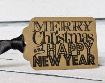 Merry Christmas and Happy New Year Tags