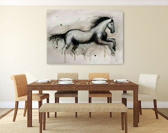 Large paint horse with texture