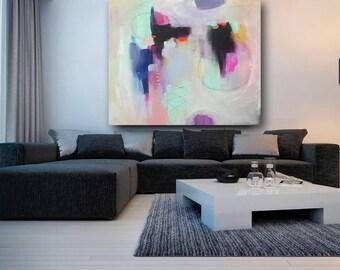 peinture abstraite «Le temps suspendus»  réalisée sur commande plusieurs formats disponibles
