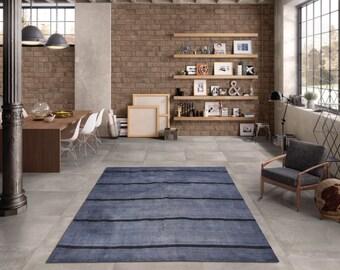 Turkish Wool Blanket,178x133cm,5.8x4.4 ft,Kilim rug,Blanket Kilim,Blue Rug,rug,Turkish kilim,Kilim,BLANKET RUG,Rugs,Turkish rug,2266